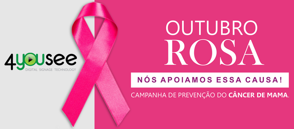 Populares Outubro Rosa - Nós apoiamos a luta contra o câncer de mama  EV97
