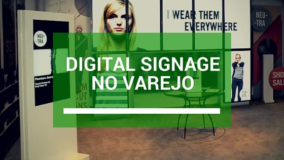 Digital signage para varejo