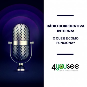 Rádio corporativa interna indoor