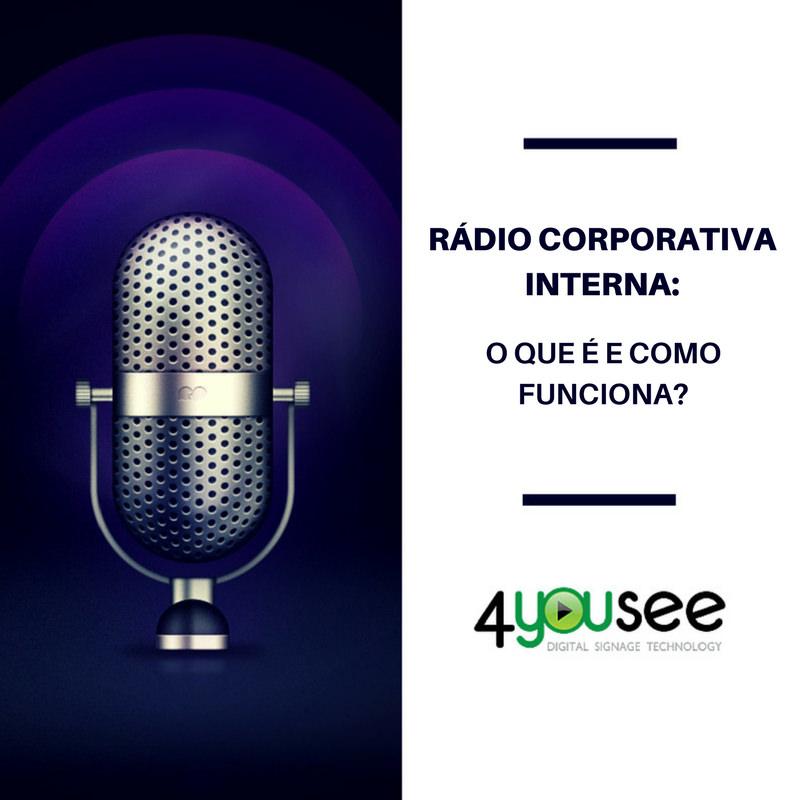 Rádio corporativa interna indoor