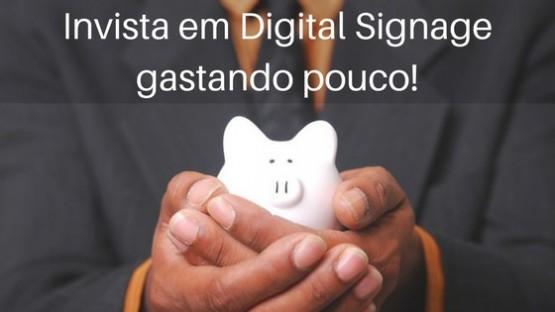 4 ideias para iniciar uma rede de digital signage sem gastar muito dinheiro