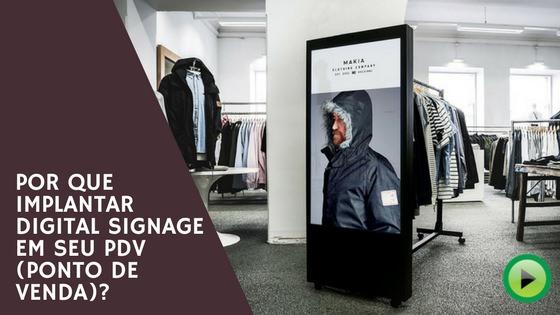 digital signage varejo