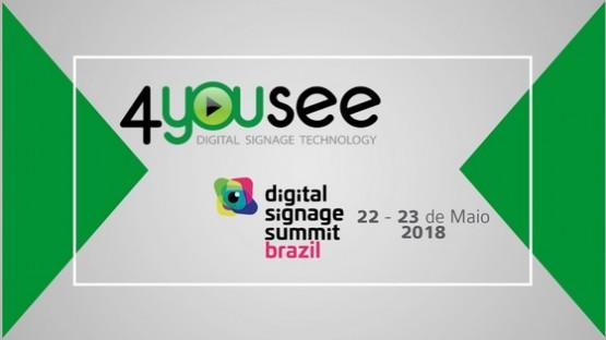 4YouSee estará presente nos eventos InfoComm Brasil e Digital Signage Summit 2018