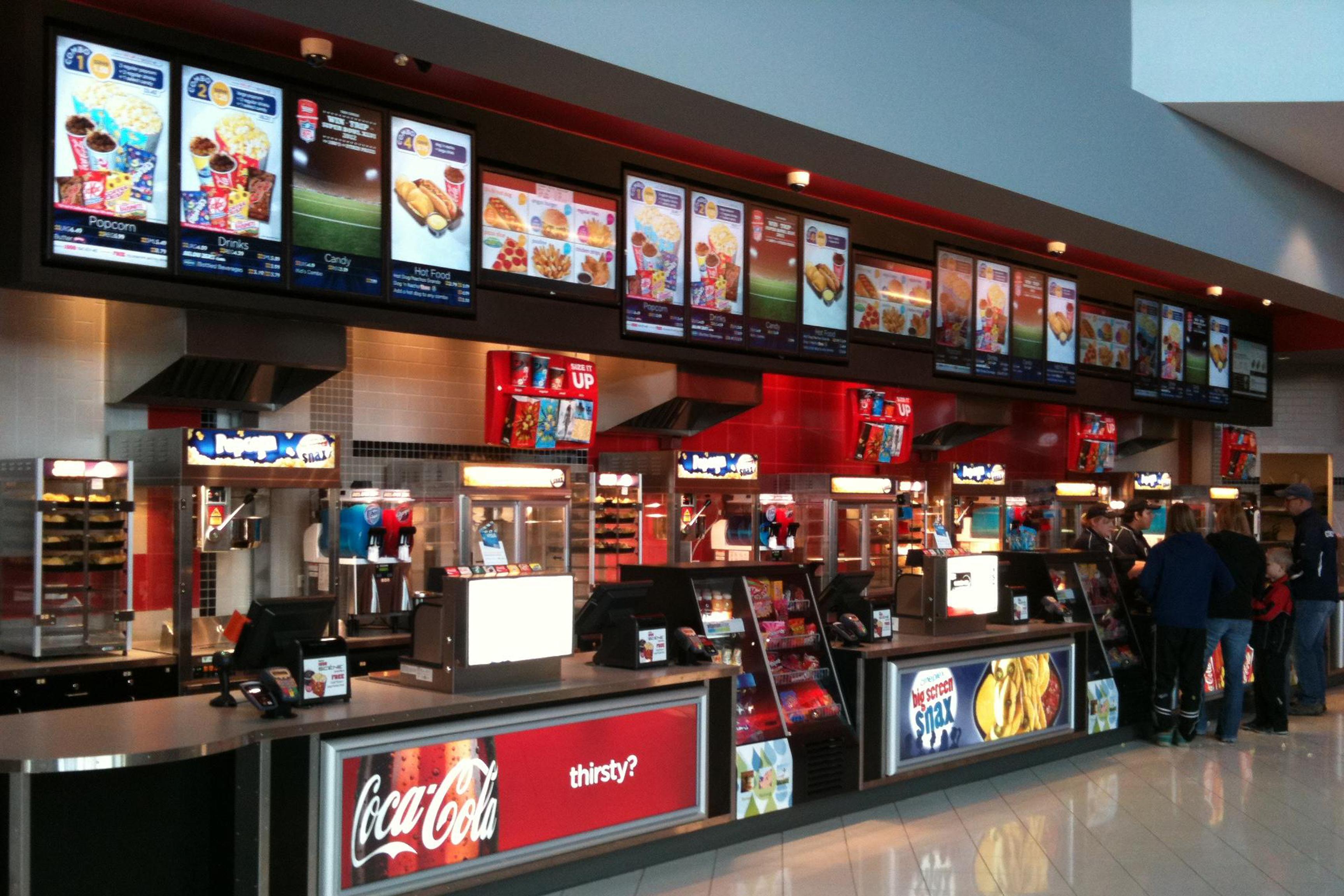 Menu board digital para redes de fast food