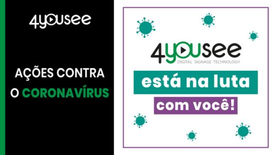 Ações da 4YouSee contra o Coronavírus